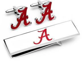 Ice University of Alabama Crimson Tide Cufflinks and Money Clip