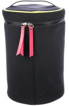 Henri Bendel Leather-Trimmed Neoprene Shoulder Bag