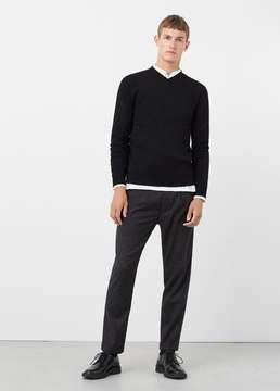 Mango Outlet V-neck wool sweater
