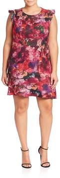 ABS by Allen Schwartz ABS, Plus Size Women's Plus Floral Printed Dress - Multicolor, Size 2x (18-20)