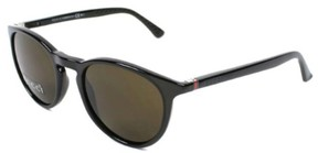 Gucci Gg1148S 50X Round Sunglasses With Crystal Grey Frames And Brown Lenses
