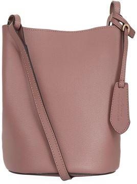 Burberry Small Lorne Leather Bucket Bag - PURPLE - STYLE