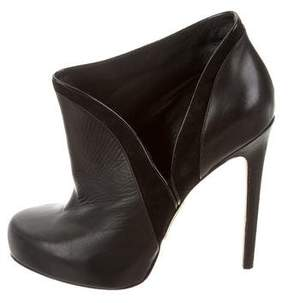 Alejandro Ingelmo Leather Round-Toe Booties
