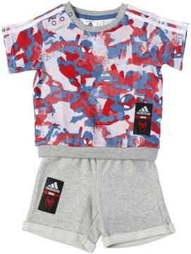Spiderman Cotton Sweatshirt & Shorts
