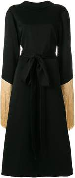 Ellery wide tasseled sleeve dress