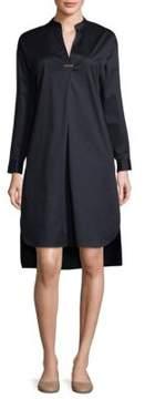 Peserico Long-Sleeve Poplin Shirt Dress