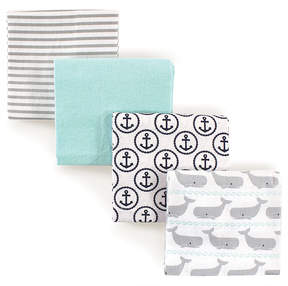 Hudson Baby Whales Flannel Receiving Blankets Set