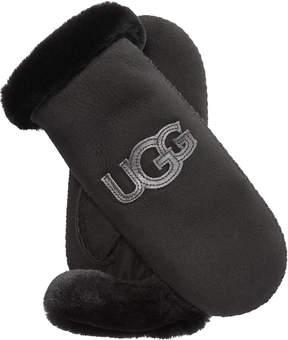 UGG Shearling Hertiage Logo Mittens