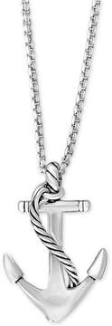 Effy Men's Anchor Pendant Necklace in Sterling Silver