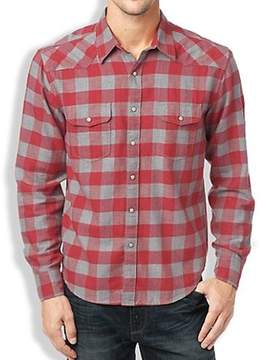 Lucky Brand New Apparel Woodspur Western Red Grey Plaid XXL Mens Shirt