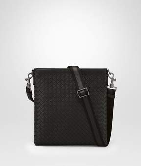 Bottega Veneta Nero Intrecciato Small Messenger Bag