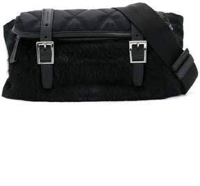 Prada Quilted pony fur belt bag