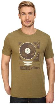 Life is Good Good Vibes Record Player Cool Tee