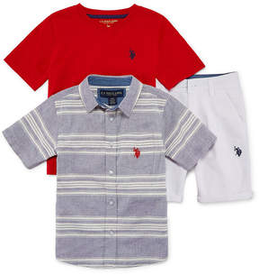 U.S. Polo Assn. USPA 3-pc. Short Set Boys