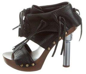 Louis Vuitton Lace-Up Platform Sandals