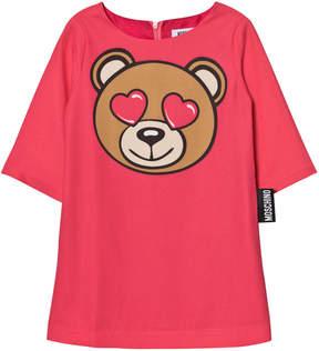 Moschino Pink Bear Heart Dress
