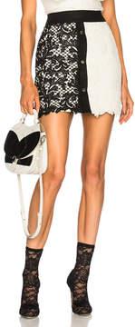 Fausto Puglisi Lace Colorblock Skirt
