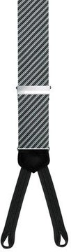 Trafalgar Formal Diagonal Braces, Black/Silver