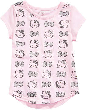 Hello Kitty Glitter Bows & Heads Cotton T-Shirt, Toddler Girls (2T-5T)