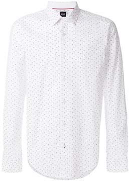 HUGO BOSS abstract micro print shirt