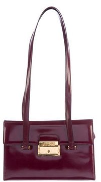 Moschino Smooth Leather Shoulder Bag