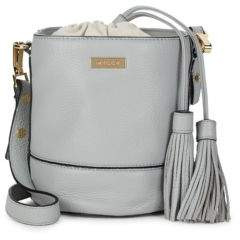 Milly Tasseled Leather Bucket Bag
