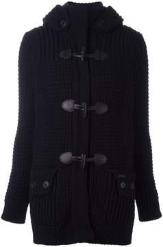 Bark fur hood jacket