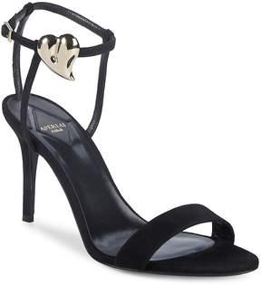 Aperlaï Women's Palma Heart Suede Stiletto Sandals