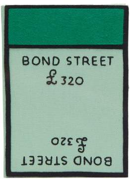 Olympia Le-Tan Olympia Le Tan Monopoly Bond Street Embroidered Book Clutch - Womens - Green