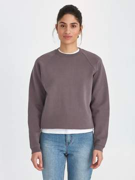 Frank and Oak The Vintage Wash Gym Fleece Crewneck in Dark Lilac
