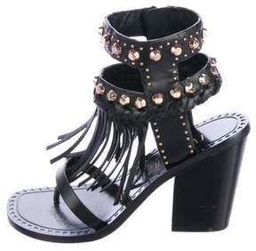 Ivy Kirzhner Leather Embellished Sandals