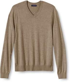 Lands' End Lands'end Men's Big Performance Soft V-neck Sweater
