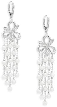 Adriana Orsini Women's Marion Faux Pearl and Crystal Dangle Earrings