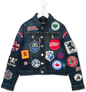 DSQUARED2 denim patch jacket