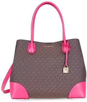 Michael Kors Large Mercer Tote- Brown/ Ultra Pink - ONE COLOR - STYLE