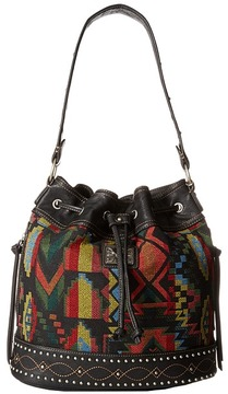 American West - Black Canyon Drawstring Bucket Shoulder Handbags