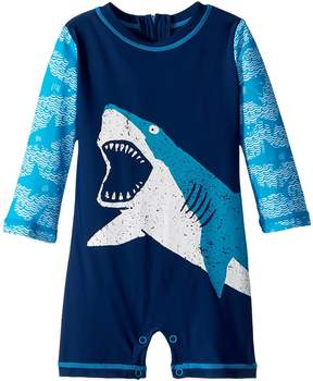 Hatley Shark Alley Mini Rashguard One-Piece Boy's Swimsuits One Piece
