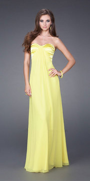 La Femme Strapless Sweetheart Long Dress 14589