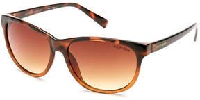 Tommy Hilfiger Tortoiseshell-Look Jessa Oval Wrap Sunglasses