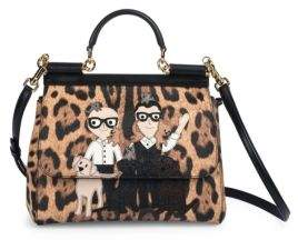 Dolce & Gabbana Miss Siciliy Medium Family Leopard-Print Satchel - NATURAL-BLACK - STYLE