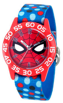 Marvel Spiderman Boys Blue Strap Watch-Wma000185