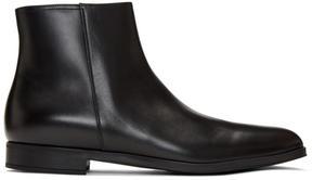 Prada Black Zip Chelsea Boots