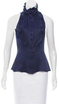 Andrew Gn Ruffle-Trimmed Sleeveless Top