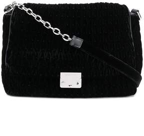 Emporio Armani logo plaque shoulder bag