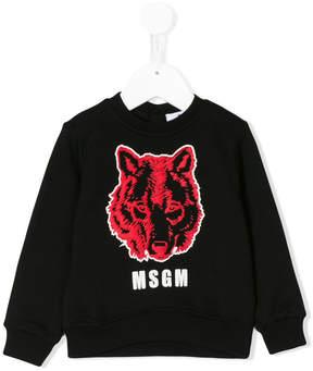 MSGM wolf print sweatshirt