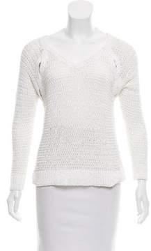 White + Warren Knit V-Neck Sweater
