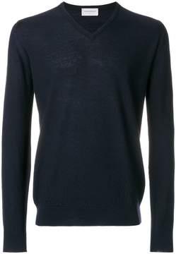 John Smedley long-sleeve v-neck sweater