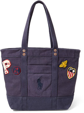 Polo Ralph Lauren Patchwork Canvas Big Pony Tote
