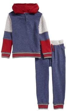 Splendid Toddler Boy's Mixed Media Hoodie & Sweatpants Set