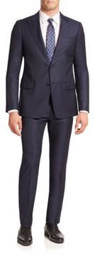 Armani Collezioni Textured Virgin Wool Suit